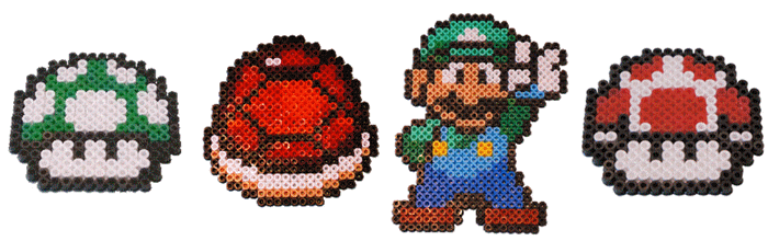 Personnages-mario-pixel