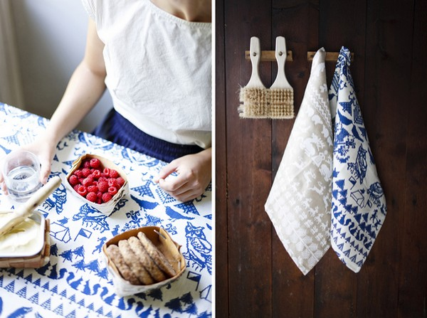 Saana ja olli table runner hand towel